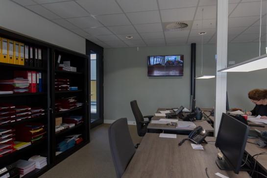 Geluidsinstallatie in werkplaats door Rients Faber
